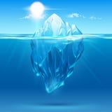Иллюстрация айсберга Стоковая Фотография