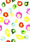 Иллюстрация акварели красочной предпосылки белизны кругов Стоковое фото RF