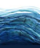 иллюстрация акварели моря Стоковое Изображение