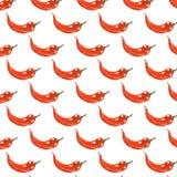 Иллюстрация акварели перца красного chili Стоковые Изображения RF