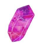 Иллюстрация акварели самоцвета или кристалла Стоковые Фото