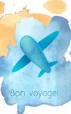Иллюстрация акварели самолета Иллюстрация штока