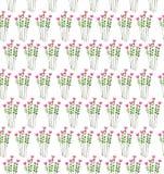 Иллюстрация акварели с картиной seaml цветков и листьев Стоковое Изображение RF