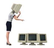 Иллюстрация дамы Making Поверхностн Изменять офиса Стоковые Фотографии RF