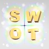 Иллюстрация анализа SWOT Стоковое Фото