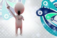 иллюстрация анкера человека 3d Стоковые Изображения
