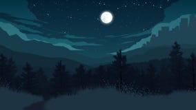 Иллюстрация ландшафта леса Стоковое Изображение