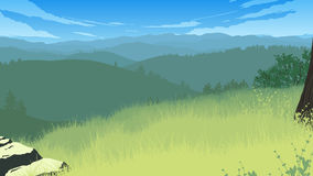 Иллюстрация ландшафта холмов Стоковые Фото