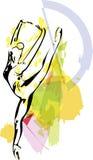 Иллюстрация артиста балета Стоковые Фотографии RF