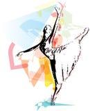 Иллюстрация артиста балета Стоковые Изображения