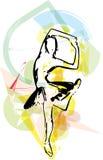 Иллюстрация артиста балета Стоковая Фотография