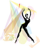 Иллюстрация артиста балета Стоковое Изображение RF