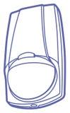 Иллюстрация датчика движения Стоковое Изображение RF