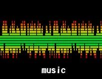 Иллюстрация бара выравнивателя музыки красочного Стоковые Изображения RF