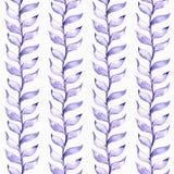 Иллюстрация безшовного растра большая при голубые и фиолетовые заводы, основанные на форме резинового завода и лианы, нарисованно иллюстрация штока
