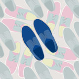 Иллюстрация ботинок людей моды Стоковое Изображение