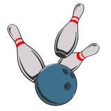 иллюстрация боулинга шарика прикалывает вектор иллюстрация вектора