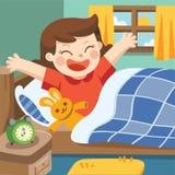 Иллюстрация бодрствования маленькой девочки вверх в утре Стоковое Изображение RF