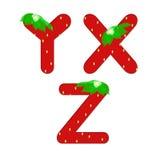 Иллюстрация букв алфавита клубники Стоковые Изображения RF