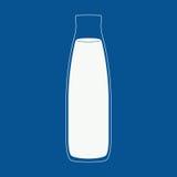 Иллюстрация бутылки молока Стоковые Фотографии RF