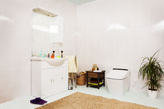 иллюстрация ванной комнаты 3d современная представляет Стоковые Фотографии RF