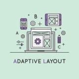 Иллюстрация веб-дизайна пользовательского интерфейса приспособительного плана отзывчивого Стоковое Фото