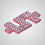Иллюстрация вектора лабиринта Равновеликий доллар Стоковые Фото