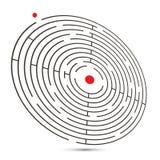 иллюстрация вектора лабиринта 3D с стартом и концом Стоковые Фотографии RF