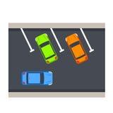 Иллюстрация вектора автостоянки автомобиля Стоковое Изображение