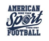 Иллюстрация вектора американского футбола стилизованная Стоковое Изображение RF
