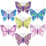 Иллюстрация вектора бабочки Стоковые Фото