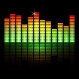 Иллюстрация вектора баров выравнивателя музыки дальше Стоковые Изображения