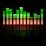 Иллюстрация вектора баров выравнивателя музыки дальше Стоковое фото RF