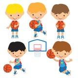 Иллюстрация вектора баскетбола Стоковые Изображения