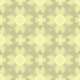 Иллюстрация вектора бежевых цветков Стоковое Изображение RF
