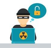 Иллюстрация вектора безопасностью интернета Стоковое Изображение