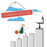Иллюстрация вектора бизнесмена бежать вверх Стоковое фото RF