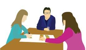 Иллюстрация вектора бизнесменов коллективно обсуждать Стоковое Фото
