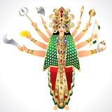 Иллюстрация вектора богини Durga иллюстрация штока