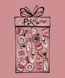 Иллюстрация вектора бутылок porfume Стоковые Фотографии RF