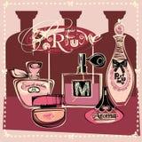 Иллюстрация вектора бутылок porfume Стоковая Фотография