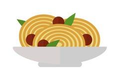 Иллюстрация вектора блюда макаронных изделий Стоковая Фотография
