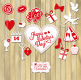 Иллюстрация вектора валентинки Стоковое Фото