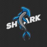 Иллюстрация вектора вектора логотипа акулы стоковое изображение rf