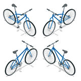 Иллюстрация вектора велосипеда равновеликая Новый велосипед изолированный на белой предпосылке иллюстрация штока