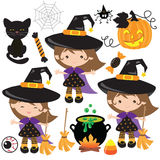 Иллюстрация вектора ведьмы хеллоуина Стоковые Фото
