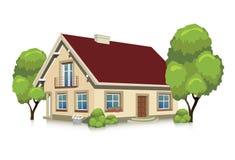 Иллюстрация вектора визуализировать дом Стоковые Изображения