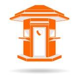 Иллюстрация вектора вид спереди стиля караульного помещения современная Стоковое Изображение