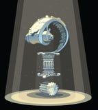Иллюстрация вектора вопросительного знака римской архитектуры Стоковые Фотографии RF