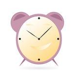Иллюстрация вектора времени будильника шаржа Стоковые Фотографии RF